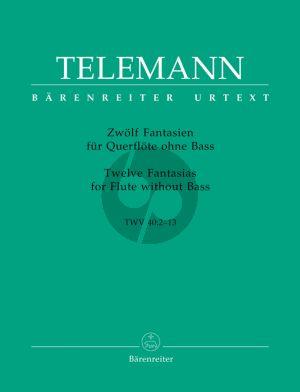 Telemann 12 Fantasien TWV 40:2-13 Flöte solo (Gunter Hauswald) (Barenreiter-Urtext)