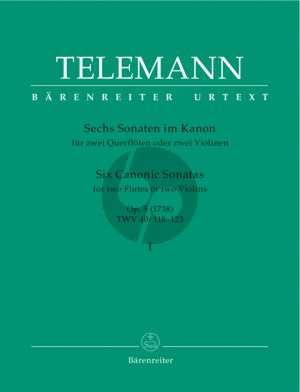 Telemann 6 Sonaten im Kanon Op.5 Vol.1 2 Violins (or Flutes) (TWV 40: 118-120) (Günter Hauswald)