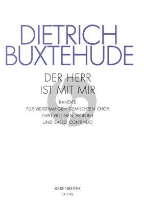 Buxtehude Der Herr ist mit mir BuxWV 15 SATB-Strings-Bc (Score/Parts) (Bruno Grusnick)