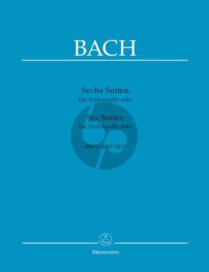 Bach 6 Suites (BWV 1007 - 1012) Violoncello (Wenzinger) (Barenreiter-Urtext)
