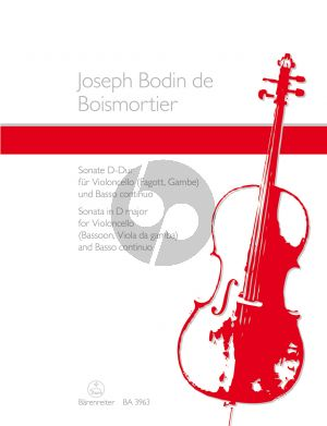 Boismortier Sonata D-major Op.50 No.3 Violoncello (Bassoon) -Bc (edited Hugo Ruf)