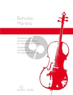 Martinu Variationen uber ein slowakisches Thema Violoncello und Klavier