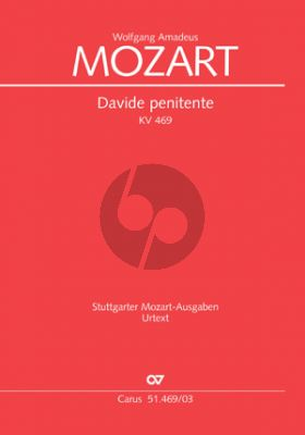 Mozart Davide Penitente c-moll KV 469 SST soli-SATB/SATB-Orch.) KA