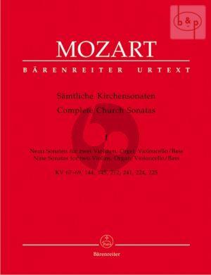 Samtliche Kirchensonaten Vol.1 (9 Sonaten for 2 Vi.-Organ with Vc./Bass) (Score/Parts)