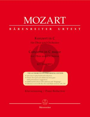 Mozart Concerto C-major KV 314 (285d) Oboe-Orchestra (piano reduction) (edited by F.Giegling)