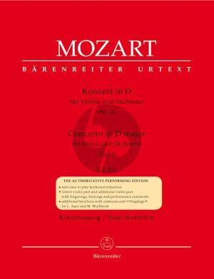 Mozart Concerto D-dur no.2 KV 211 Violin-Orch. (piano red.) (Barenreiter-Urtext)