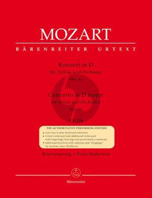 Mozart Concerto D-dur KV 218 (Urtext der Neuen Mozart-Ausgabe) (mit Kadenzen von Joachim, Auer und Wulfhorst)