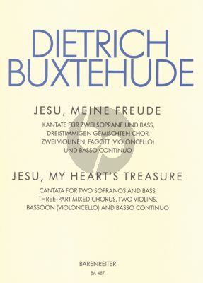 Buxtehude Jesu meine Freude (SBsolo-SSB- 2 Violins-Bassoon- Bc Grusnick) (Score-Parts)