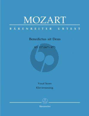 Mozart Benedictus sit Deus KV 117 (66a=47b) (Sopr.- SATB-Orch.) (Vocal Score) (Barenreiter)