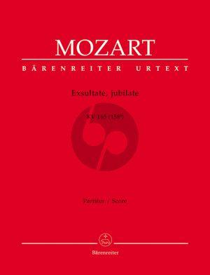 Mozart Exultate Jubilate (Motet) KV 165 (158a) Soprano-Orch.-Organ Full Score