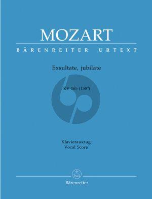 Mozart Exultate Jubilate - Motet KV 165 (158a) Soprano solo-Orch.-Organ Vocal Score (edited by Helmut Federhofer)