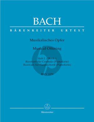 Bach Musikalisches Opfer BWV 1079 Vol.1 Ricercari für Cembalo (Pianoforte) (Christoph Wolff) (Barenreiter-Urtext)