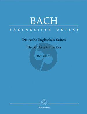 Bach Englische Suiten (BWV 806 - 811) Klavier (edited by Alfred Durr) (Barenreiter-Urtext)