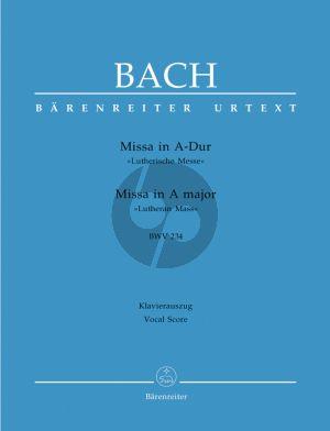 Bach Messe A-dur BWV 234 (Lutherische Messe) Soli-Chor-Orchester (KA.) (Emil Platen) (Barenreiter-Urtext)