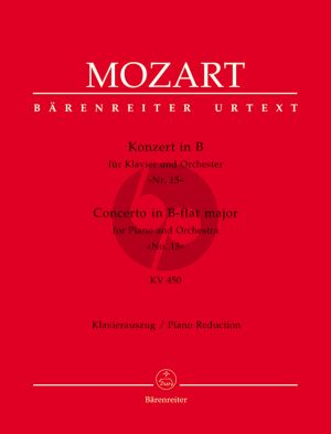 Mozart Konzert No.15 B-Dur KV 450 Klavier-Orchester (Ausgabe 2 Klaviere) (Urtext Neuen-Mozart Ausgabe)