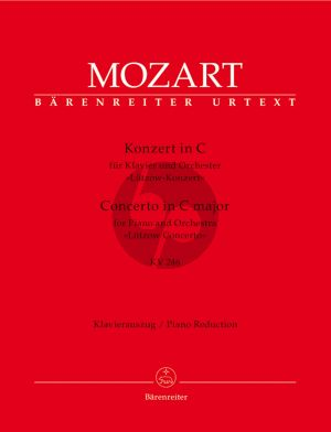 "Mozart Concerto for Piano and Orchestra No 8 C major KV 246 ""Lützow Concerto"" reduction 2 Pianos"
