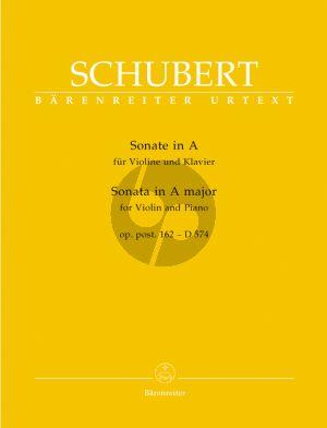 Schubert Sonate A-dur Op. Post.162 D.574 Violine und Klavier (Helmut Wirth)