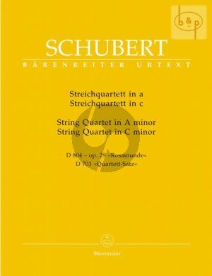Streichquartett a-moll Op.29 (D 804) (Rosamunde) & Quartettsatz c-moll (D 703)