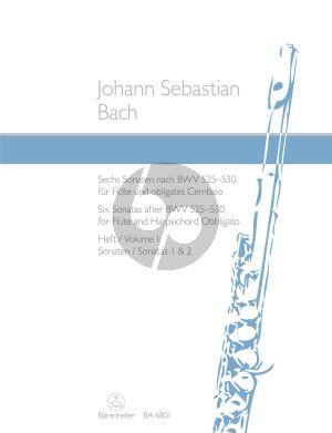 Bach 6 Sonaten nach BWV 525 - 530 Vol.1 (No.1 - 2) (Flote-obl.Cembalo) (Kirchner) (Barenreiter)