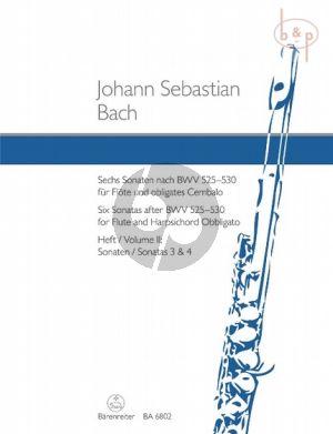 6 Sonaten nach BWV 525 - 530 Vol.2 (No.3 - 4) (Flote-obl.Cembalo)