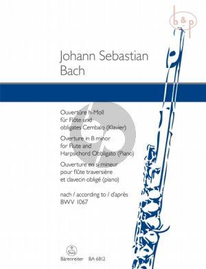 Ouverture h-moll nach BWV 1067 Flöte mit obl.Cemb.)