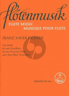 Richter 2 Duette (D-major and e-minor) (2 Flutes) (edited by Hugo Ruf)