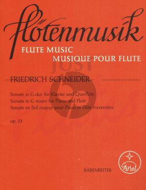 Schneider Sonate G-dur Op. 33 Flote und Klavier (Peter Schleuning)