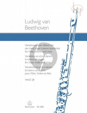 """Variations on """"Reich mir die Hand, mein Leben"""" (WoO 28) (Flute-Vi.-Va.)"""