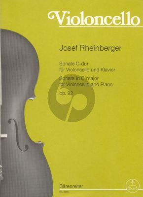 Rheinberger Sonate C-dur Opus 92 Violoncello und Klavier (Klaus Storck)