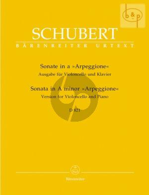 Sonate Arpeggione a-moll D.821 Violoncello-Klavier