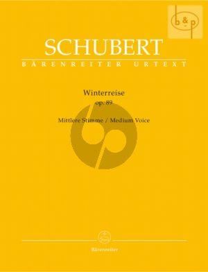 Schubert Winterreise Op.89 (D.911) Medium Voice (edited by Walther Durr)