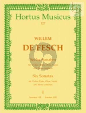 Fesch 6 Sonaten Vol.1 (Nos.1-3) Violine(Fl./Va./Ob.)-Bc (edited by Waldamar Woehl)