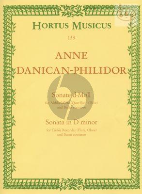 Sonata d-minor Treble Recorder [Fl./Ob.] and Bc