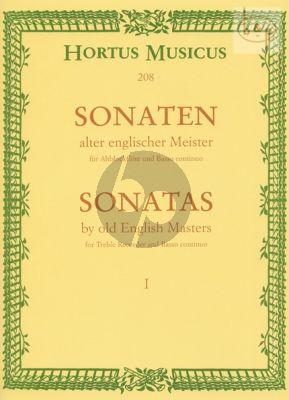 Sonaten alter Englischer Meister Vol.1 fur Altblockflote un Bc