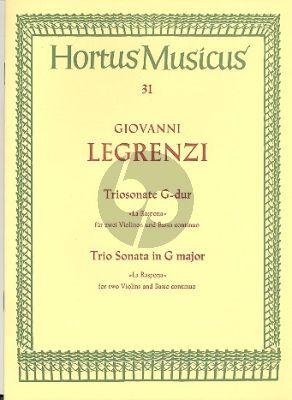 """Legrenzi Triosonate G-dur """"La Raspona"""" 2 Violinen und Basso continuo (Werner Danckert)"""