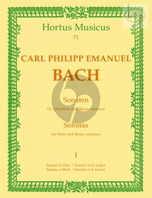 Bach Sonatas Vol.1 Flute-Bc (edited by Kurt Walther)
