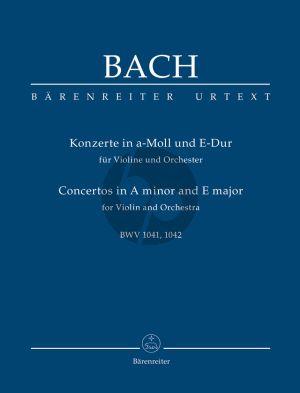 Bach Concerto's a-minor and E-major BWV 1041-1042 (Violin-Orch.) Study Score