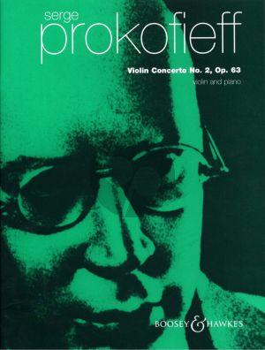 Prokofieff Concerto No.2 g-minor Op.63 Violin-Orchestra Edition for Violin and Piano