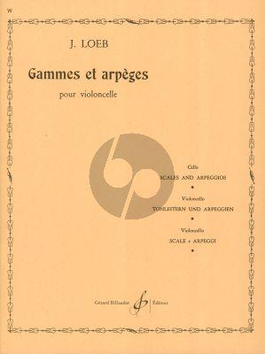 Loeb Gammes et Arpèges Violoncelle