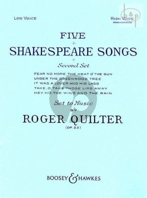 5 Shakespeare Songs Op.23