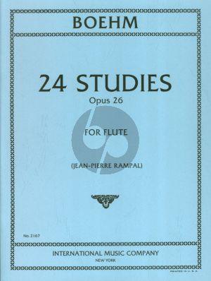 Boehm 24 Etudes Caprices Op. 26 Flute (edited by Jean-Pierre Rampal)
