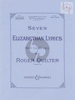 7 Elizabethan Lyrics Opus 12 Low Voice
