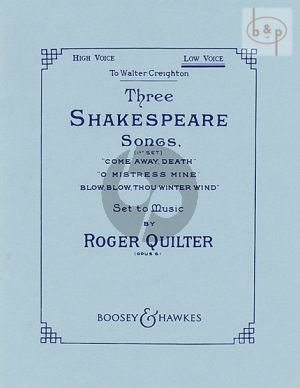 3 Shakespeare Songs Op.6