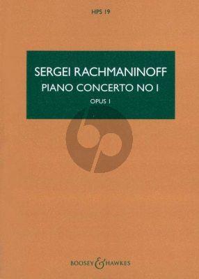 Rachmaninoff Concerto No.1 Op.1 F-sharp minor Piano and Orchestra (Study Score)