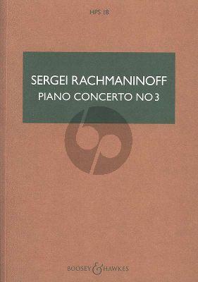 Rachmaninoff Concerto No.3 Op.30 d-minor Piano and Orchestra (Study Score)