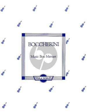 Music Box Minuet Viola-Piano