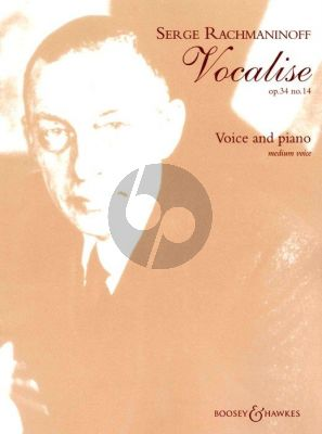 Rachmaninoff Vocalise Op.34 No.14 Medium Voive and Piano (a-minor)