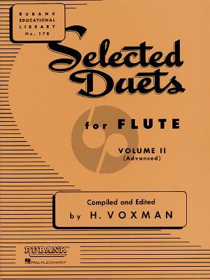 Voxman Selected Duets for Flute Vol.2 (Medium-Advanced)