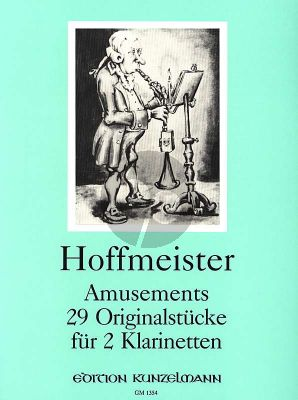 Hoffmeister Amusements Progressives 2 Klarinetten (29 Originalstücke) (Spielpartitur)