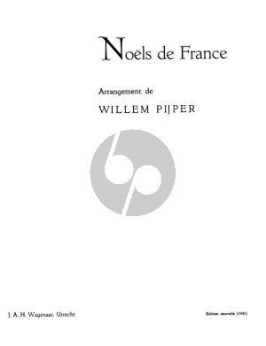 Pijper Noels de France Zang-Piano
